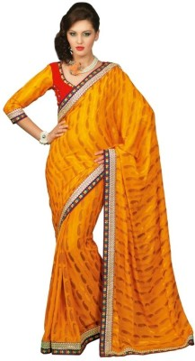 Chirag Sarees Self Design Fashion Crepe Sari