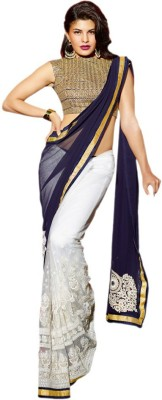 MANNAT CREATION Embriodered Bollywood Pure Georgette Sari