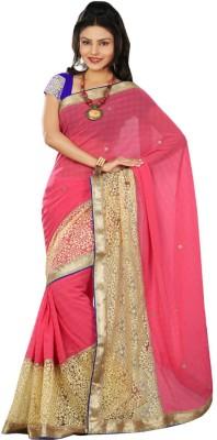 Raghuveer Fashion Solid Bollywood Georgette Sari