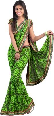 Budget Vastra Floral Print Bollywood Georgette Sari