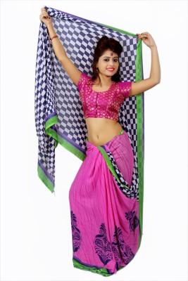 Creativz Hand Printed Bollywood Pure Georgette Sari
