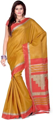 Cenizas Solid Fashion Art Silk Sari
