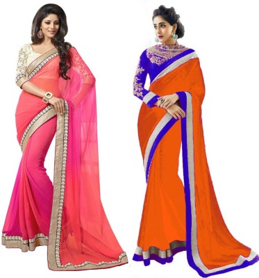 Stylezone Self Design Fashion Chiffon Sari