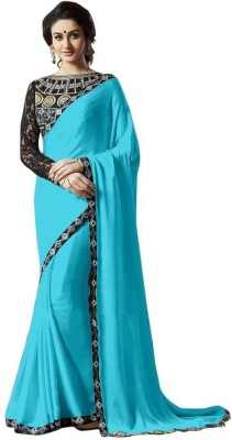 Fashion Web Plain Bollywood Chiffon Sari