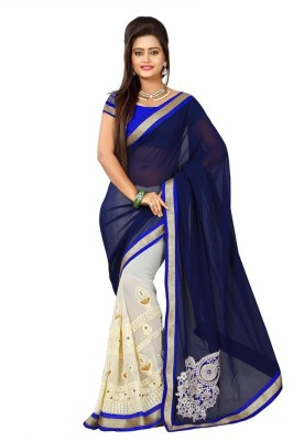 Balaji Creations Embriodered Bollywood Chiffon Sari