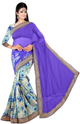 UMA TRADERS Printed Fashion Art Silk Sari