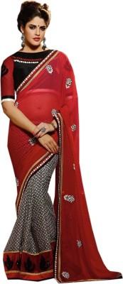 Heer Ganga Floral Print Fashion Handloom Georgette Sari