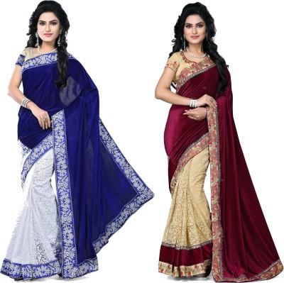 SNV Fashion Embriodered, Embellished Fashion Velvet, Brasso, Velvet, Brasso Sari