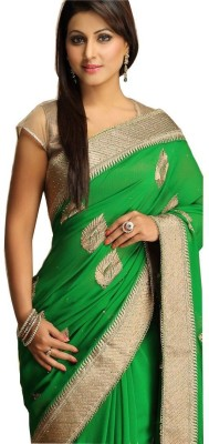 Divazz Embriodered Bollywood Georgette Sari