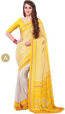 Craze N Demand Printed Fashion Crepe Sari