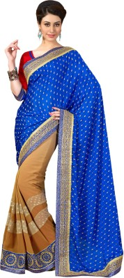 Admyrin Self Design Fashion Georgette Sari