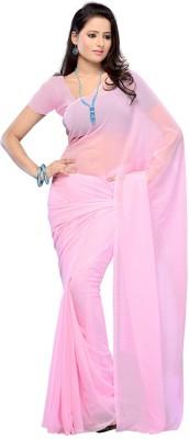 GD Plain Fashion Georgette Sari