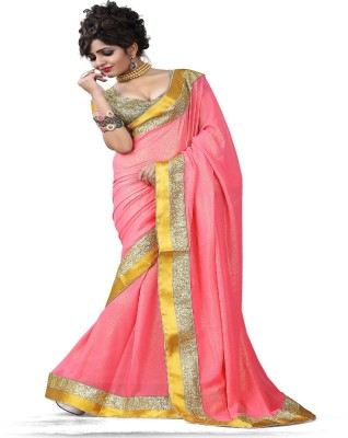 Shopimo Fashion Self Design Fashion Handloom Georgette, Satin Sari
