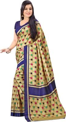 Urban Vastra Polka Print Fashion Raw Silk Sari