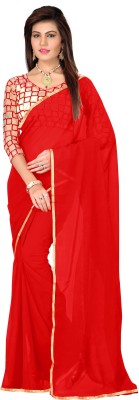 PerfectBlue Self Design Bollywood Chiffon Sari