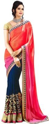 Liza Self Design Fashion Chiffon Sari
