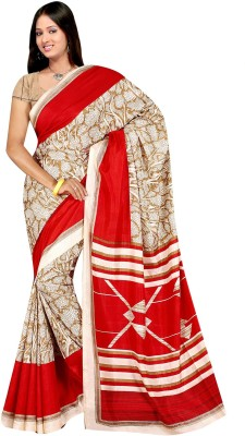 ZofeyFashion Printed Daily Wear Art Silk Sari
