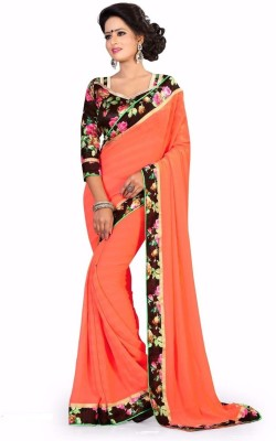 VardhitaFashion Printed Fashion Georgette Sari