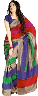 Murli Manohar Fashions Printed Bollywood Handloom Art Silk Sari