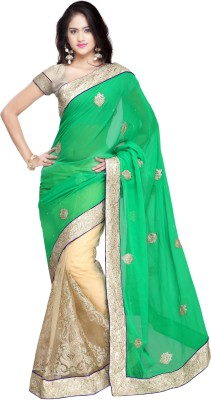 Shukan Saree Embellished Bollywood Chiffon Sari
