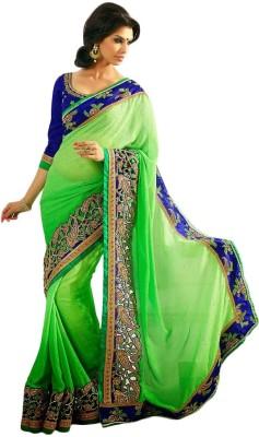 7Diva Embriodered Fashion Chanderi Sari