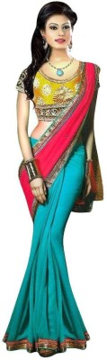 Kmozi Embriodered Fashion Georgette Sari