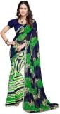 PSHOPEE Printed Fashion Chiffon Saree (D...