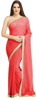 Maniya Plain Mooga Georgette Sari