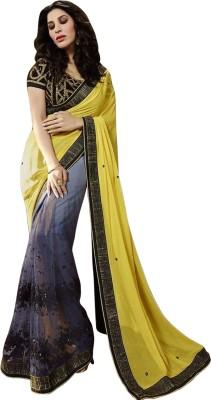 Crystalfashionsarees Embriodered Bollywood Handloom Georgette Sari
