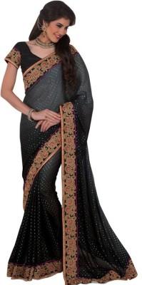 Kintu Designs Pvt. Ltd. Plain Fashion Satin Sari