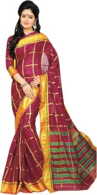 Aswani Checkered Fashion Cotton Sari