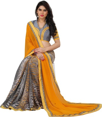 Patricia Self Design Bollywood Printed Silk Sari