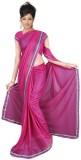 GSI Solid Daily Wear Viscose Saree (Pink...
