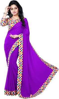 Vruticreation Self Design, Digital Prints Bollywood Georgette Sari