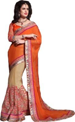 ARsalesIND Embriodered Fashion Chiffon Sari