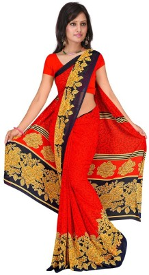 Subhash Sarees Floral Print Fashion Georgette Sari
