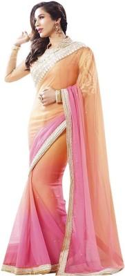Drapme Embriodered Bollywood Georgette Sari