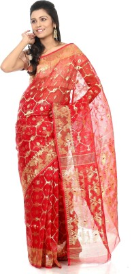 B3Fashion Self Design Jamdani Silk Sari