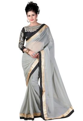 Alethia Enterprise Embriodered Daily Wear Chiffon Sari
