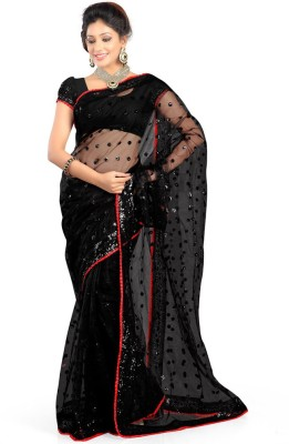 Jhankar Fab Embriodered Bollywood Net Sari