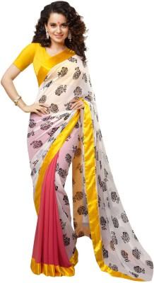 Eagle Fashion Embriodered Fashion Handloom Georgette Sari