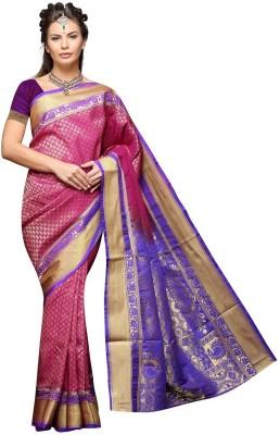 Mahila Silks Woven Paithani Brocade Sari