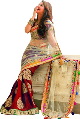 Dhanu Fashion Embriodered Bollywood Handloom Net, Georgette Sari