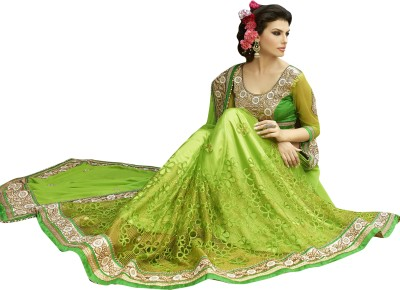 EthnicBasket Embriodered Fashion Georgette Sari