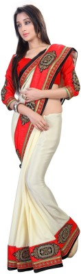 sivermoonfashion Plain Fashion Jacquard Sari