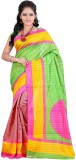 3NH Printed Bhagalpuri Khadi Saree (Pink...