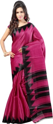Aashritha Printed Fashion Art Silk Saree(Pink) at flipkart