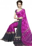 Suvastram Printed Fashion Crepe Saree (M...