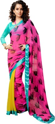 Ethnic For You Printed Daily Wear Pure Georgette Sari