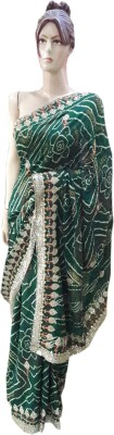 M.S.Center Embriodered Daily Wear Synthetic Crepe Sari